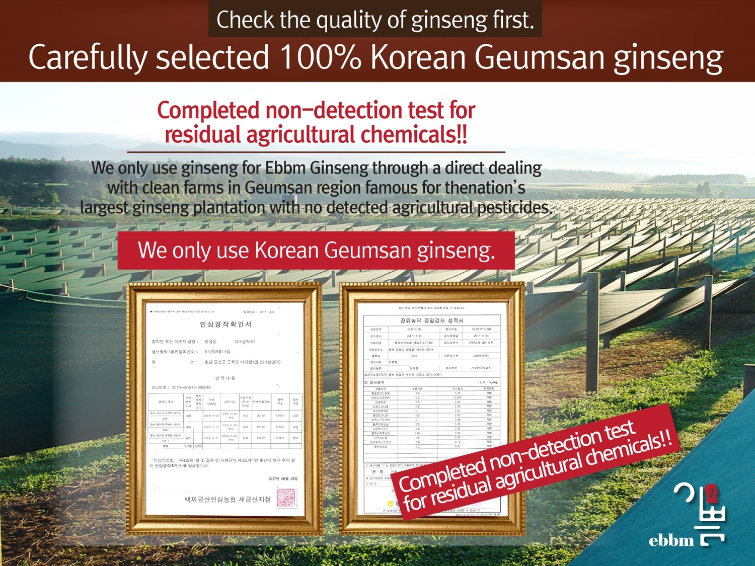 Ginseng Tested